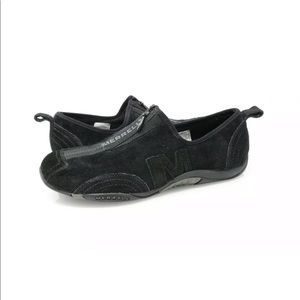 Merrell Barrado Black Suede Front Zip Shoes